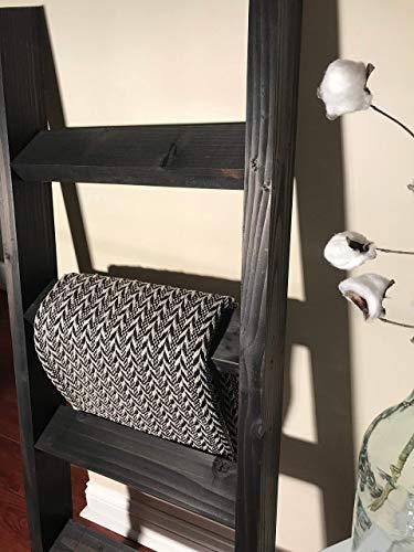3, 4 or 5 ft Vintage Black Blanket Ladder, Quilt Ladder, Wood Ladder, Towel Ladder, Farmhouse Ladder