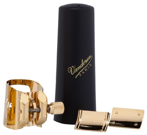 Vandoren LC090P Optimum Gold Gilded Baritone Saxophone Ligature/Cap