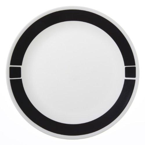 Corelle Livingware 6-Piece Dinner Plate Set, Urban Black