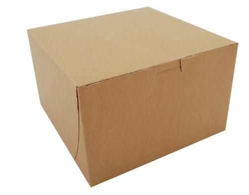 "Southern Champion Tray 09455K Kraft Paperboard Non Window Lock Corner Bakery Box, 8"" Length x 8"" Width x 5"" Height (Case of 100)"