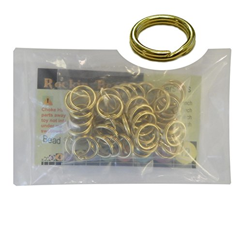 48 Split Ring Fishing Lure, Lanyard, Dog Tag Connector Polished Brass 14mm Made in The USA