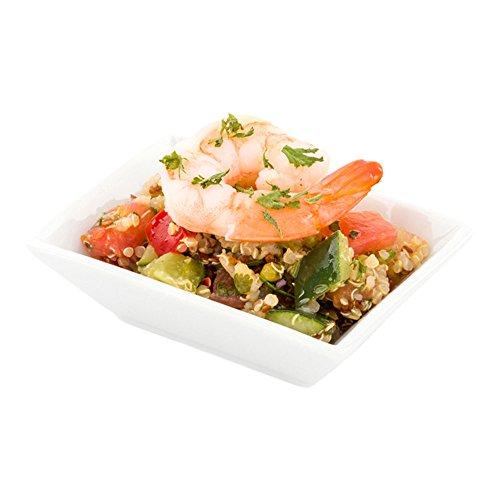 Mini Porcelain Dish - Rectangular Appetizer Dish, Rectangular Dessert Dish - 3.9 Inches - White - 10ct Box - Restaurantware