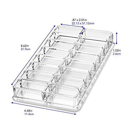 byAlegory Acrylic Eyeshadow Makeup Beauty Organizer | 16 Space Cosmetic Storage Container for Drawer or Vanity Desk