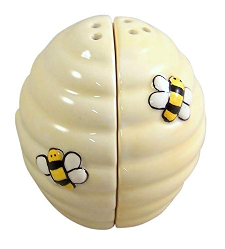 Bee and Hive Magnetic Salt and Pepper Shaker Set