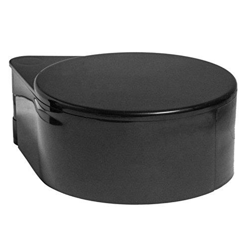 BonBon Luxury Plastic 3-Tier Bar Glass Rimmer, Black