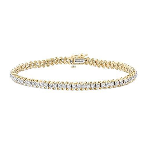 1 CTTW White Diamonds Tennis Bracelet in 10KT Gold (I-J, I1-I2)