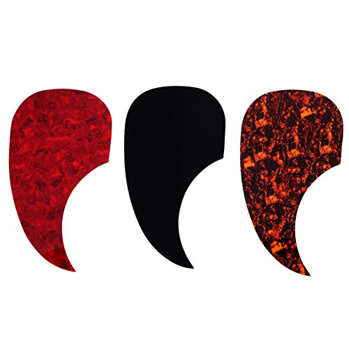 Whitelotous 3 Pack Teardrop Self-Adhesive Acoustic Guitar Pickguard Scratch Plate Pick Guard