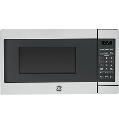 GE JES1072SHSS 0.7 Cu. Ft. Capacity Countertop Microwave Oven with Auto and Time Defrost, in Stainless Steel