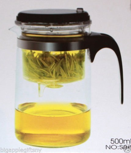 500ml Glass Gongfu Tea Maker Press Art Cup Teapot with Stainless steel Infuser
