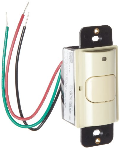 Hubbell AP1277I1N Adaptive Technology Wall Switch, Passive Infrared, Ivory Auto Control, 1 Circuit