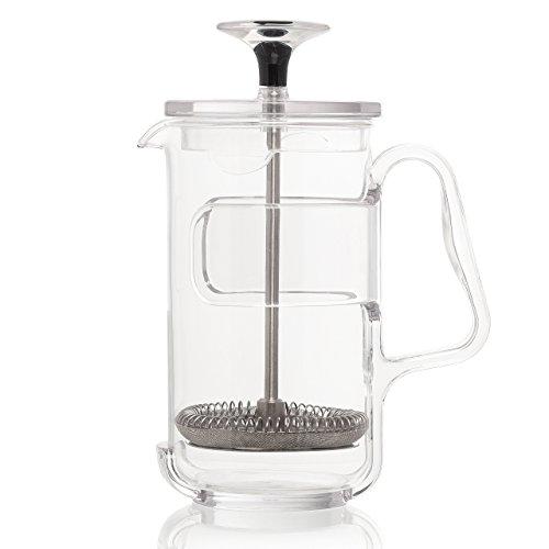 Guzzini My Kitchen Coffee/Tea Press, 3 Cup, 7-Inches, Clear Plastic Glass