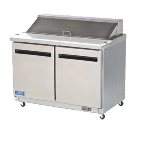 Arctic Air AMT48R 48.25-Inch 2-Door Mega Top Refrigerated Sandwich/Salad Prep Table, 115v