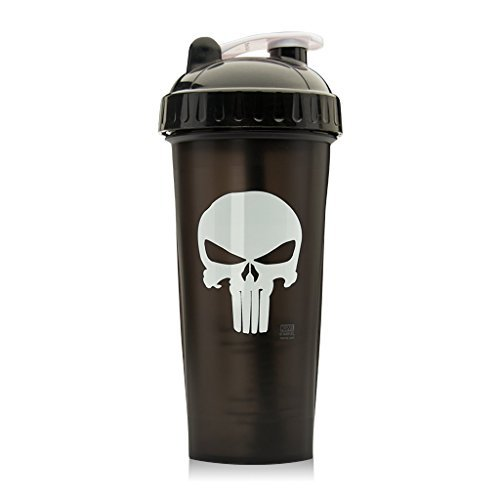 Performa Perfect Shaker - The Punisher Shaker Bottle, Best Leak Free Bottle with Actionrod Mixing Technology for Your Sports & Fitness Needs! Dishwasher & Shatter Proof