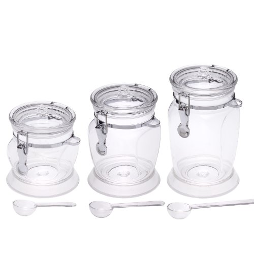 Supreme Housewares 4-Side Canister with Spoons, Set of 3