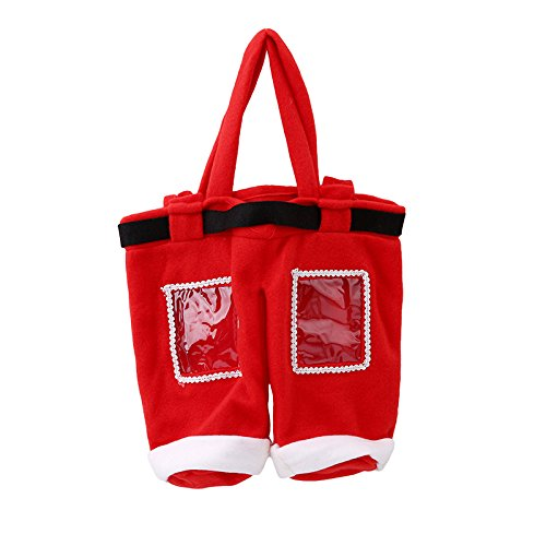 Buildent(TM) Christmas Gift Bag Xmas Candy Coke Drinking Wine Bottle Bags Gift Covers Christmas Party Supplies