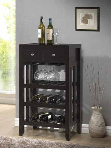 "Brand New 22.4"" x 14.24"" x 38.6""H Dark Espresso Wood Finish Wine Rack"