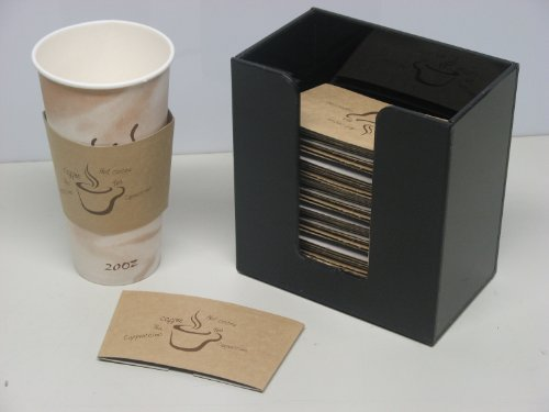 Coffee Cup Sleeve or Hot Cup Holder Short Dispenser Organizer for Hot Drink Cups (3016)
