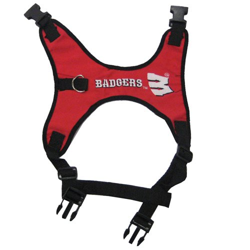 Pets First Collegiate University of Wisconsin Badgers Pet Dog Harness, Large