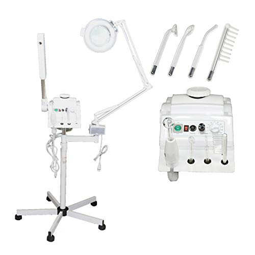 3 in 1 Aromatherapy Facial Steamer, 5x Magnifying Lamp & High Frequency Machine for Salon Spa Beauty Equipment
