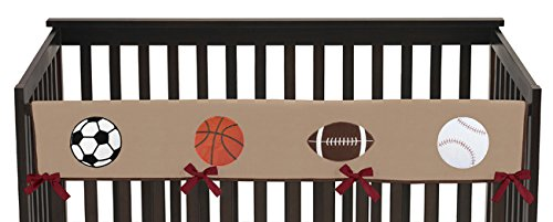 All Star Sports Long Front Rail Guard Baby Boy Teething Cover Protector Crib Wrap
