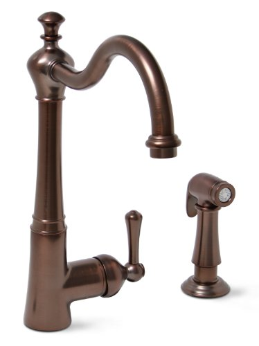 Premier 120026LF Sonoma Lead-Free Single-Handle Kitchen Faucet with Matching Side Spray, Oil Rubbed...