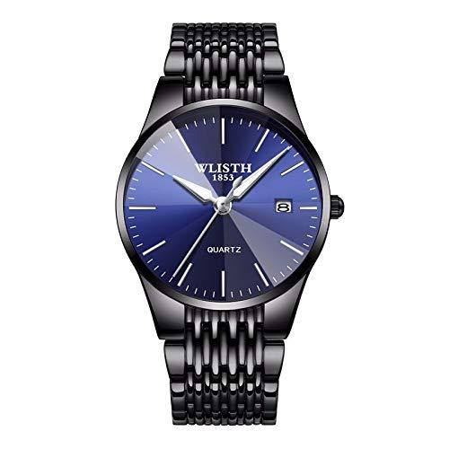 Waterproof Watch for Men, Full Steel Quartz Analog Wrist Watch Men Luxury Brand Date Business Watch