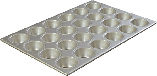 "Carlisle 601840 Steeluminum 24 Cup Heavy Duty Cupcake Pan, 20.63"" Length x 14.12"" Width, 3.5-oz Capacity (Case of 6)"