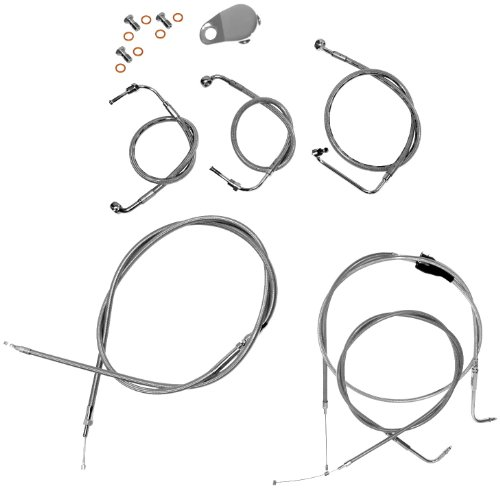 "LA Choppers Stainless Cable/Brake Line Kit for 15""-17"" Bars on Models with ABS LA-8051KT-16"