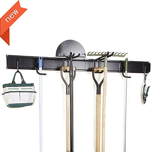 Ultrawall 8PC Garage Organizer, Garage Storage System With Hooks, Tool Organizer Holder Hanger