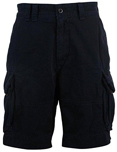 Polo Ralph Lauren Mens Big & Tall Cotton Classic-Fit Cargo Shorts (46B, Black)