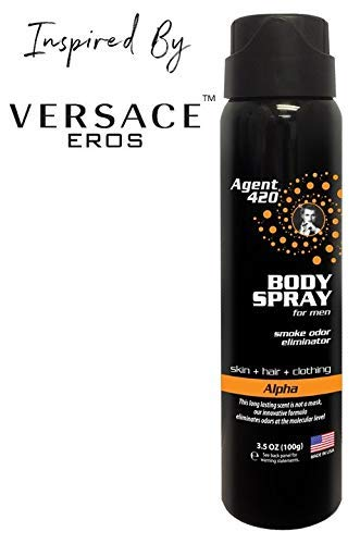 Agent 420 Daily Fragrance Body Spray - Smell Your Best All Day Long, Breaks Down and Destroys Smoke Odor at The Molecular Level - Eliminates Odors from Hair, Body and Clothes - 3.5 oz Spray (Alpha)