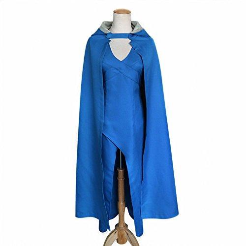 Meelanz Womens Halloween Top Design Cosplay Show Costume Dress Cloak (L)