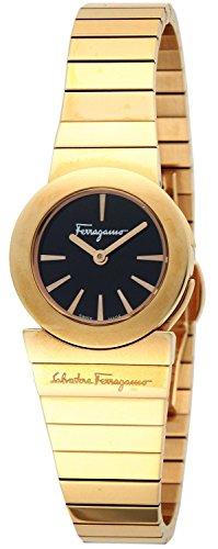 Salvatore Ferragamo reloj Ganchini a lo largo - Le Negro Dial de acero inoxidable (RGPVD) caja F70SBQ5099S080