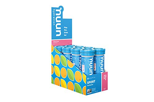 Nuun Sport: Electrolyte Drink Tablets, Citrus Fruit, 10 Count (Pack of 8)
