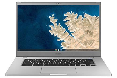 """SAMSUNG XE350XBA-K01US Chromebook 4 + Chrome OS 15.6"""" Full HD Intel Celeron Processor N4000 4GB RAM 32GbEmmc Gigabit Wi-Fi, Silver"""