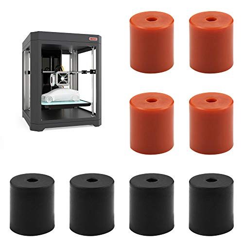 3D Printer Leveling Parts 8Pcs Heated Silicone Leveling Column Heat bed Buffer, 3D Printer Heatbed Parts Compatible with Ender-3 CR-10 CR-10S 3D Printer Hot Bed (Black and Brown)