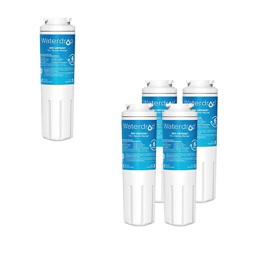 Waterdrop UKF8001 Refrigerator Water Filter, Compatible with Whirlpool UKF8001AXX-750, Maytag UKF8001P, UKF8001AXX-200, 4396395, 469006, EveryDrop Filter 4, PUR, Puriclean II, EDR4RXD1, 5 Filters