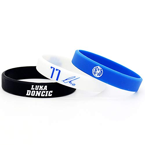 Lorh s store NBA Jugador de Baloncesto Estrella Inspirador Firma Pulseras Deporte Silicona (Luka Doncic)