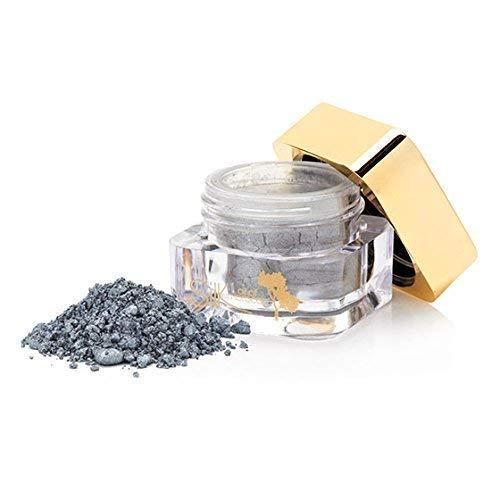 Soie Huile de Maroc Shimmer Paupières/Shimmer/Poudre Minéral Paupières/Eye Pigment - Minéral Maquillage Enrichie avec Bio Argan Huile - Silver Crush, 2g