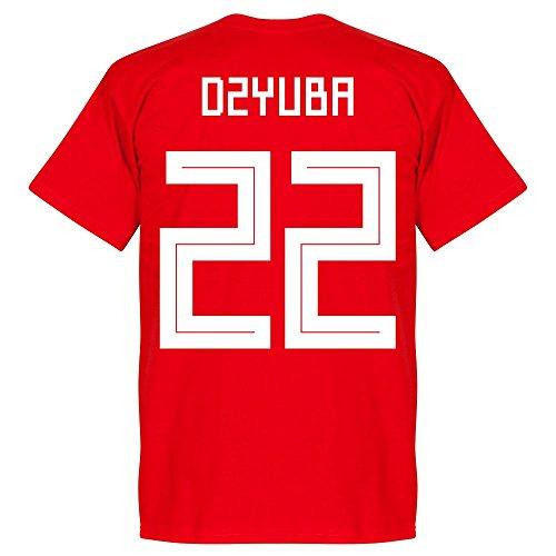 Russland Team Dzyuba 22 T-Shirt - rot - XS