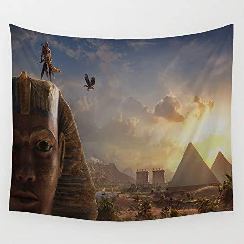 Tapices Decor Assassin's Creed Origins juego de pie en el ídolo dormitorio decoración del hogar 150 x 130 cm