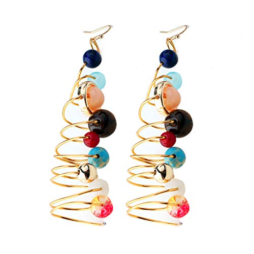Viesky Solar System Spiral Drop Earrings The Eight Planets Guardian Star Earring Women