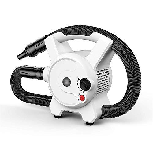 Secador de pelo para mascotas -Secador de cabello de alta potencia y velocidad sin escalones de alta potencia de 2400 W, tecnología de reducción de alto ruido, secado rápido, con 3 boquillas de aire
