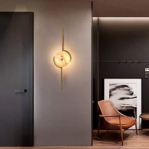 YONGYONGCHONG Semaforo - Lámpara de pared clara para pared luminosa postmoderna personalidad mármol natural Light Art Vivere simplemente Creative Room Mesilla de noche luz del patio