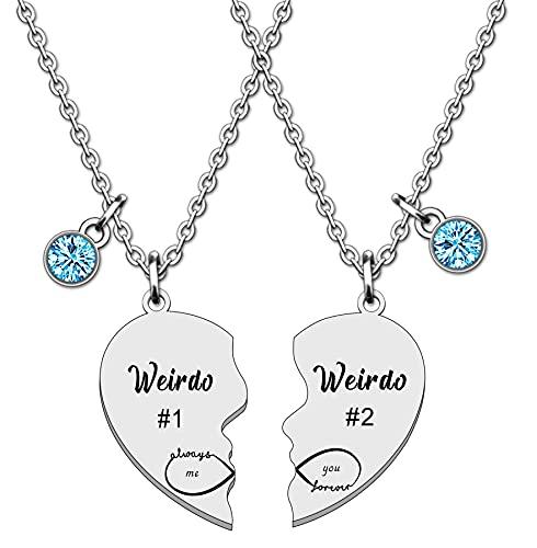 WTOPP Best Friend Necklaces Couple Necklace Friendship Necklaces Set BFF...