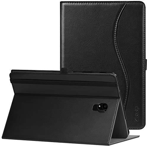ZtotopCase Hülle für Samsung Galaxy Tab S4 10.5 2018,Leichte Ultra Leder Hülle Case Cover mit Standfunktion und Auto Sleep/Wake,Kartensteckplätze,Samsung Tablet S4 10,5 Zoll SM T830N /T835N,Schwarz