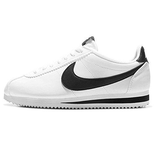 Nike Wmns Classic Cortez Leather, Scarpe Running Donna, Bianco (White/Black/White 101), 35.5 EU
