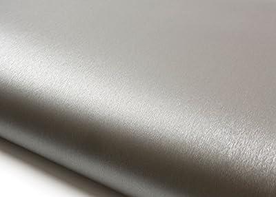 ROSEROSA Peel & Stick Backsplash Hair Line Metallic Textured Vinyl Contact Paper & Border Sticker Self-Adhesive Wallpaper Shelf Liner Table and Door Reform