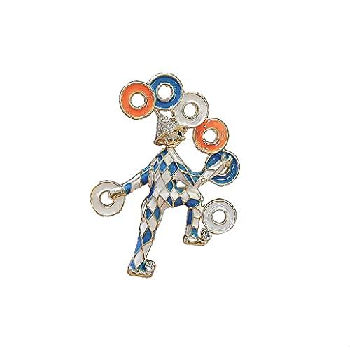 RKL Creative Lindos Broches Y Pines, Metal Boy Batge Broche Design, Broche Joyas para Mujeres Disfraz De Boda Hat Crafts Accesorios (tamaño : 5.2×3.6CM)