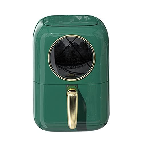 4.5 litros de freidora de aire con ventana de visualización, protección automática de apagado para descongelar y preservación de calor Freidora de la parrilla de doble capa, fácil de limpiar, control